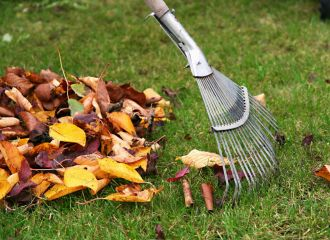 Leaf Raking Service in Montgomery, AL - raking leaves from lawn